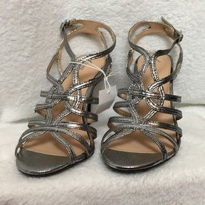 Fioni Gold Strappy Heels, Size 6, NWT